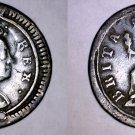 1724 Great Britain 1 Farthing World Coin - UK - England - George I - Holed