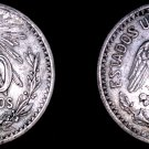 1906 Mexican 50 Centavo World Silver Coin - Mexico