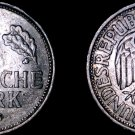 1955 F German 1 Mark World Coin -West Germany