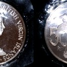 1974 British Virgin Islands 50 Cent Proof World Coin