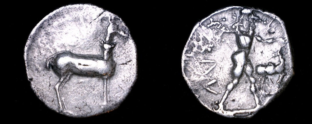 480-388BC Bruttium Kaulonia AR Nomos Coin - Ancient Greece - Italy