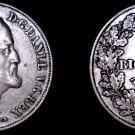 1854(c) FK/VS Danish 1 Riksdaler World Silver Coin - Denmark - Frederik VII