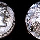 138BC Roman Republic Aelia-3 P. Aelius Paetus AR Denarius Coin - Ancient Rome