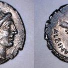 48BC Roman Republic Postumia-10 Albinus Bruti AR Denarius Coin - Ancient Rome