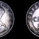 1912 Newfoundland 20 Cent World Silver Coin - Canada