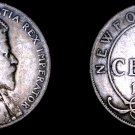 1904-H Newfoundland 50 Cent World Silver Coin - Canada