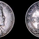 1908 Newfoundland 50 Cent World Silver Coin - Canada