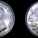 1920 Canada 5 Cent World Silver Coin - Canada - George V