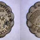 Undated Brass Jeweller's Advertising Token Paris France