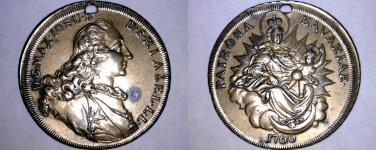 German States Bavaria Madonna Thaler Holed Medal