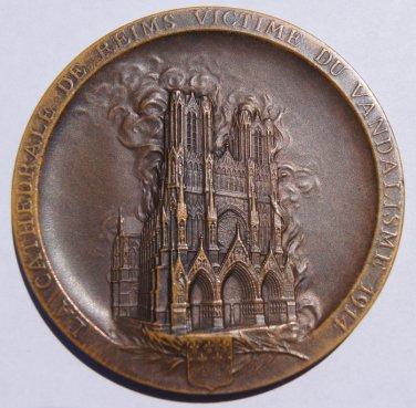 1914 France - Vandelism of Reims Cathedral by Germans in World War I