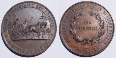 Feldsberg Austria Agriculture and Industry Medal