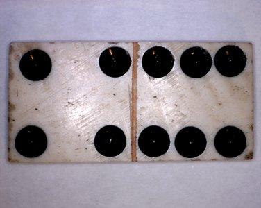 French Napoleonic Wars - Prisoner of War POW Handmade Bone-Carved Domino - 4+6