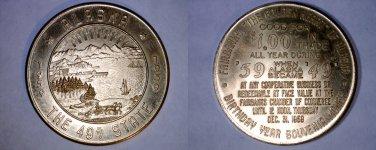 1959 Alaska Good for $1 Statehood Souvenir Medal