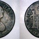 1801NG M Guatemalan 1/2 Real World Silver Coin - Guatemala - Charles IIII- Holed