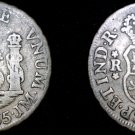 1755-LM JM Peruvian 1 Real World Silver Coin - Peru - Holed