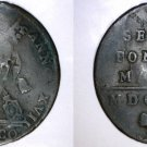 1816-XVIIB Italian States Papal States 1 Biaocco World Coin