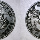 1857 Bank of Upper Canada 1/2 Penny World Token