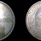1934-A German 5 Reichsmark World Silver Coin - Germany 3rd Reich - KM-82