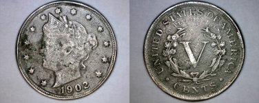 "1902 Liberty """"V"""" Nickel"