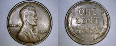 1934-P Abraham Lincoln Wheat Penny