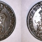 1841 Catalonia 6 Quartos World Coin - Spain - Isabel II