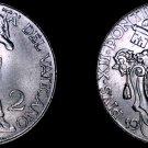 1941 Vatican City 2 Lire World Coin - Catholic Church Italy- Pius XII