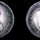 1808 Guatemalan 2 Reales World Silver Coin - Guatemala - Ferdinand VII- Holed