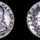 1867-XXIIR Italian States Papal States 1 Lira World Silver Coin - Pius IX