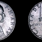 1953 Vatican City 5 Lire World Coin - Catholic Church Italy