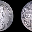 1678/7 Great Britain 6 Pence  World Silver Coin - UK