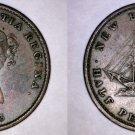 1843 Canadian Half Penny (1/2) World Token - New Brunswick