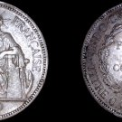 1900-A French Indo-China 1 Piastre World Silver Coin - Vietnam