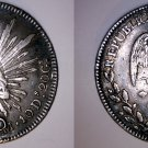 1831-Mo JM Mexican 8 Reales World Silver Coin - Mexico - Holed