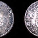 1822 British West Indies 1/4 Dollar World Silver Coin - Anchor Money - Plugged