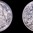 1868-XXIIIR Italian States Papal States 10 Soldi World Silver Coin - Pius IX
