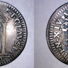 1750-XI Italian States Papal States 1/2 Grosso World Silver Coin - Benedict XIV