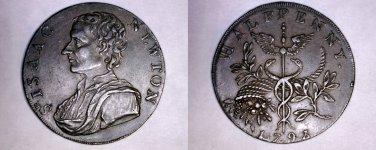 1793 Great Britain Middlesex Halfpenny Conder Token - D&H 1033