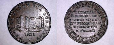 1811 Great Britain Newark 1 Penny Conder Token