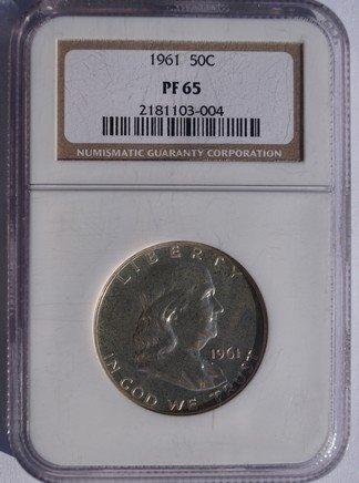1961 Franklin Half Dollar Silver Proof NGC PR65 Certified