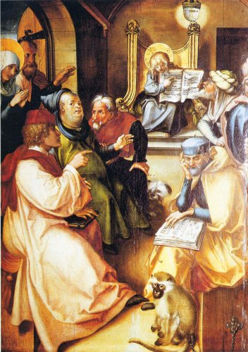 The seven pain Assumption - The twelve-year-old Jesus in the Temple by Durer