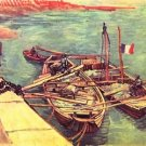 Boats with sand by Van Gogh - Poster (24x32IN)