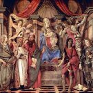Madonna throne of angels and saints by Botticelli - 30x40 IN Canvas