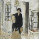 Woman in a Doorway, 1910 - A3 Poster