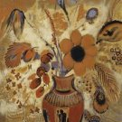 Etruscan Vase with Flowers, 1900-10 - A3 Poster