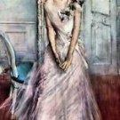 White pastel picture by Giovanni Boldini - A3 Poster