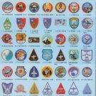 Vinteja charts of - Taiwan Air Force Patches B - A3 Paper Print