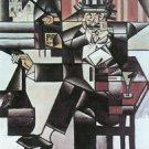 Man in Cafe [1] by Juan Gris - A3 Poster