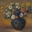 Wild Flowers in a Vase, 1910 - A3 Poster