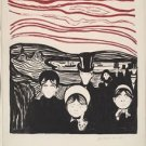 Edvard Munch - Angst (2) - A3 Paper Print